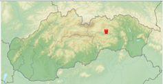 Lage der Zipser Burg in der Slowakai