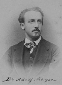 Adolf Mayer 1875 bei der Ernennung zum a.o. Professor