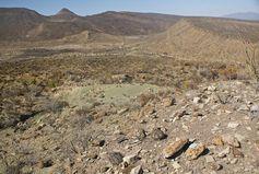 Landschaft in der Gegend von Paredon: Hier sind die Wissenschaftler im Rahmen von paläontologischen. Bild: Wolfgang Stinnesbeck (idw)