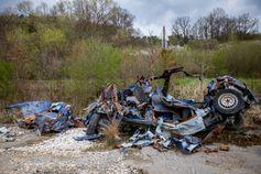 Trümmer nach der Explosion in einem tschechischen Munitionslager in Vrbětice im Jahr 2014. (3. Mai 2021) Bild: Vladimir Prycek/CTK / RT DE