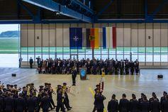 Mit einem Appell wurde am 01.10.2019 auf dem Fliegerhorst Laage die Waffenschule der Luftwaffe aufgestellt. Bild: Bundeswehr