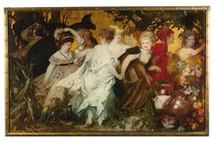 Hans Makart, Moderne Amoretten, Triptychon, signiert auf der Mitteltafel, Öl auf Leinwand, 147 x 236 cm, gerahmt Bild: Dorotheum Fotograf: Dorotheum
