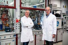 Walter Leitner und Christoph Gürtler, Finalisten des Europäischen Erfinderpreises 2021 (v. l. n. r.)  Bild: Europäisches Patentamt (EPA) Fotograf: Europäisches Patentamt (EPA)