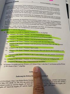 Hier seht Ihr Paragraph 73 des jetzigen Infektionsschutzgesetzes Bild: ESREICHT