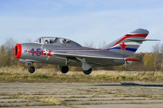 A Russian MiG-15UTI, the same type as Gagarin was flying