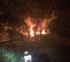Brand eines Gartenhauses Bild: Feuerwehr