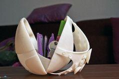 Generativ gefertigte Handtasche aus ABS. Quelle: (Quelle Fraunhofer IPA) (idw)