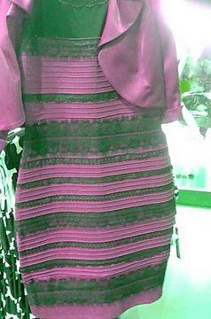 Die Gegenprobe mit einem rötlich gefärbten Kleid. Quelle: Montage: Gegenfurtner et al. / Current Biology 2015 (idw)