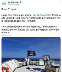 Twitter Meldung von Sea Watch Bild: Screenshot Twitter / UM / Eigenes Werk