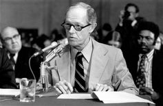 E. Howard Hunt testifies before the Watergate Committee