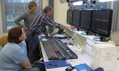 Die Bohrkerne aus Wyoming werden in den IODP-Laboren am MARUM untersucht. Quelle: Foto: U. Röhl, MARUM (idw)