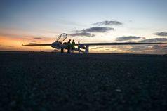 Die Insal Sal bildet in den nächsten Wochen die Basis für das Forschungsflugzeug Stemme. Quelle: Foto: Burkard Baschek/HZG (idw)
