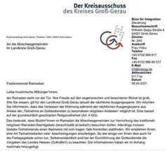 Kreisausschuss Schreiben des Kreises Groß-Gerau Bild: UM / Eigenes Werk