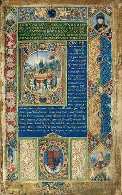 Matthias' Einzug in Wien ist im Philostratus-Codex überliefert Bild: Wikipedia / UM / Eigenes Werk