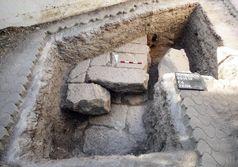 Westliches Querfundament des Tempels Quelle: Archäologisches Seminar der Martin-Luther Universität Halle (idw)