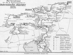"""Die 1914er-Auflage der Alpenfahrt führte in acht Tagesetappen über eine Gesamtdistanz von 2.932 Kilometern.  Bild: """"obs/Skoda Auto Deutschland GmbH"""""""