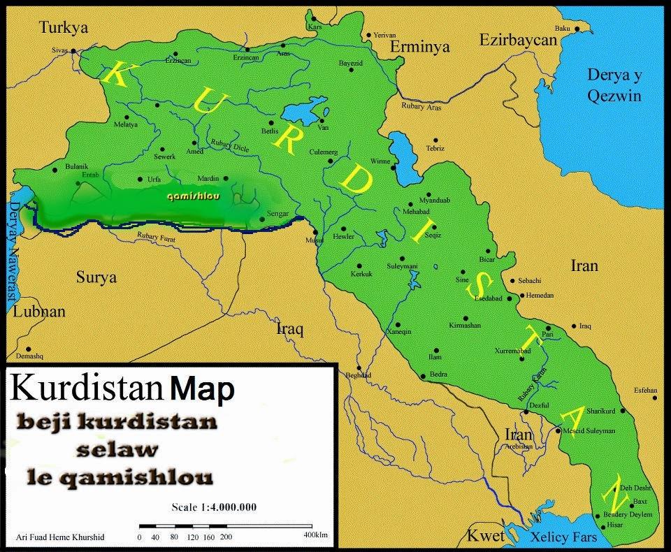 kurdistan karte Karte von Kurdistan — Extremnews — Die etwas anderen Nachrichten