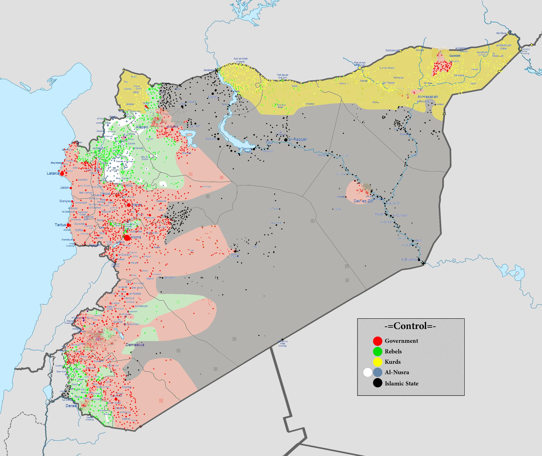 Syrien Bürgerkrieg Karte