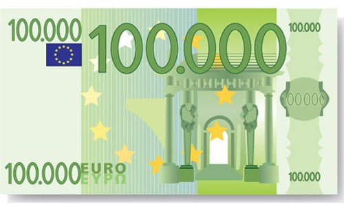 Der 100 000 Euro Schein Der Zukunft Symbolbild Extremnews Die