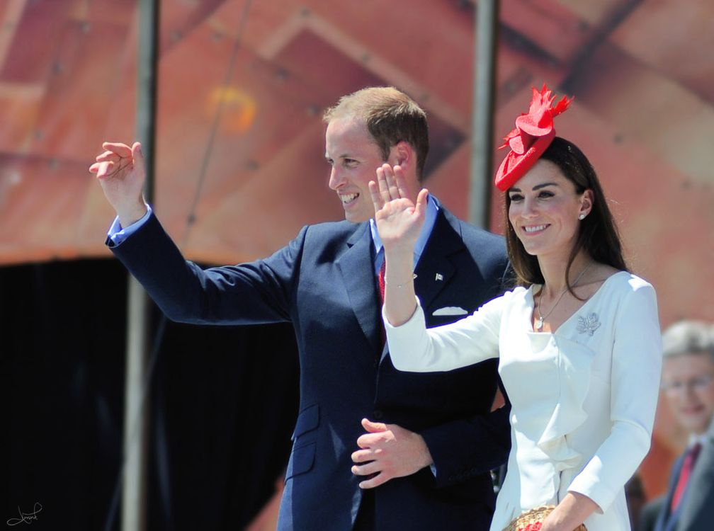 The Duke and Duchess of Cambridge at the Canada Day celebrations in Ottawa, 1 July 2011