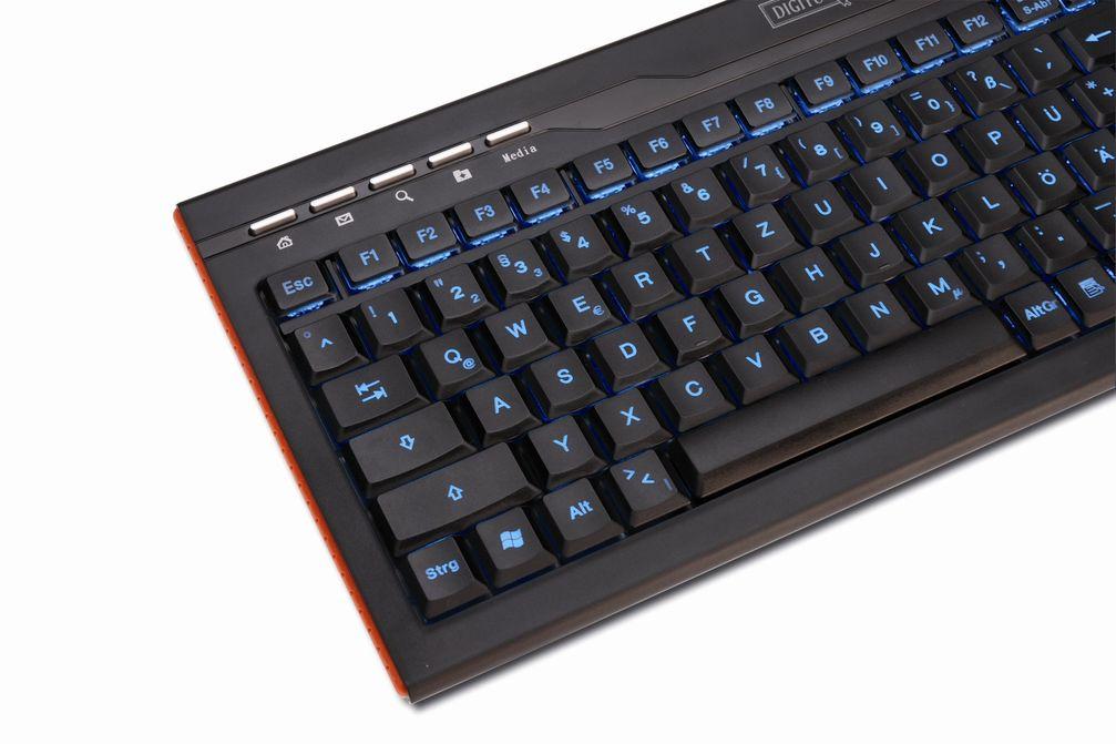 Blaue Ambientebeleuchtung der Tastatur DA-20200