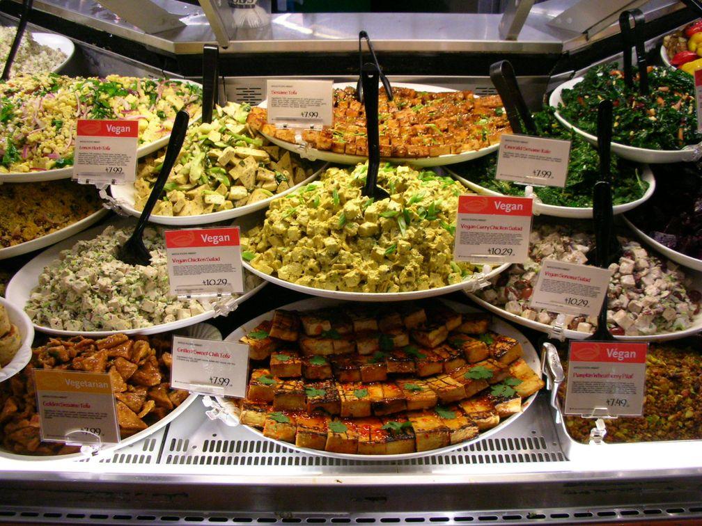Vegetarische Speisen mit Tofu