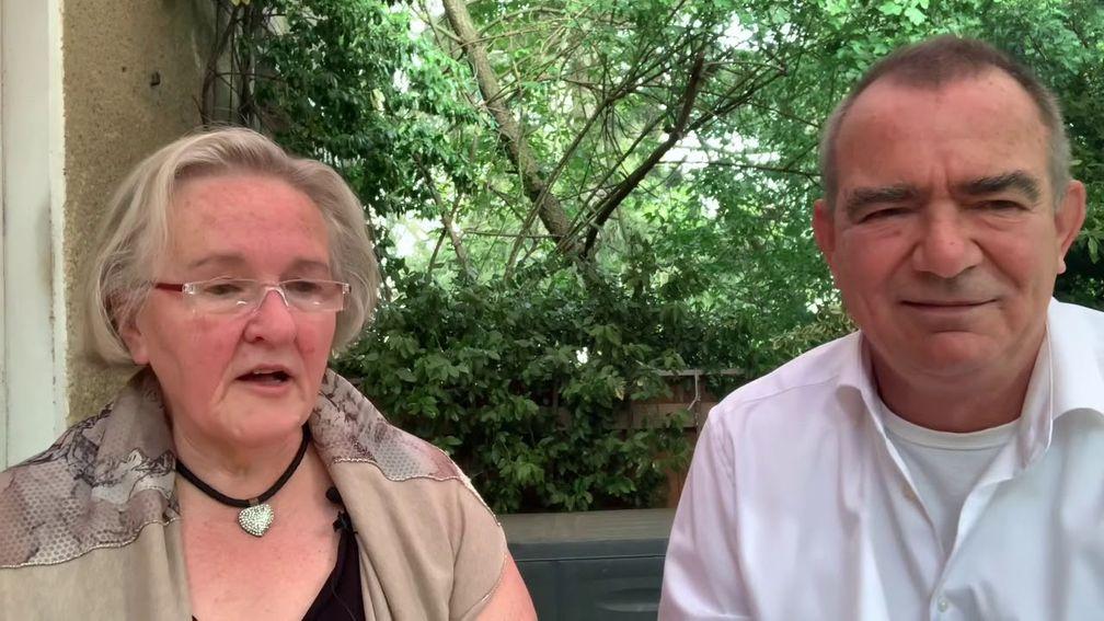DDR-Bürgerrechtlerin Angelika Barbe und Michael Mross (2020)