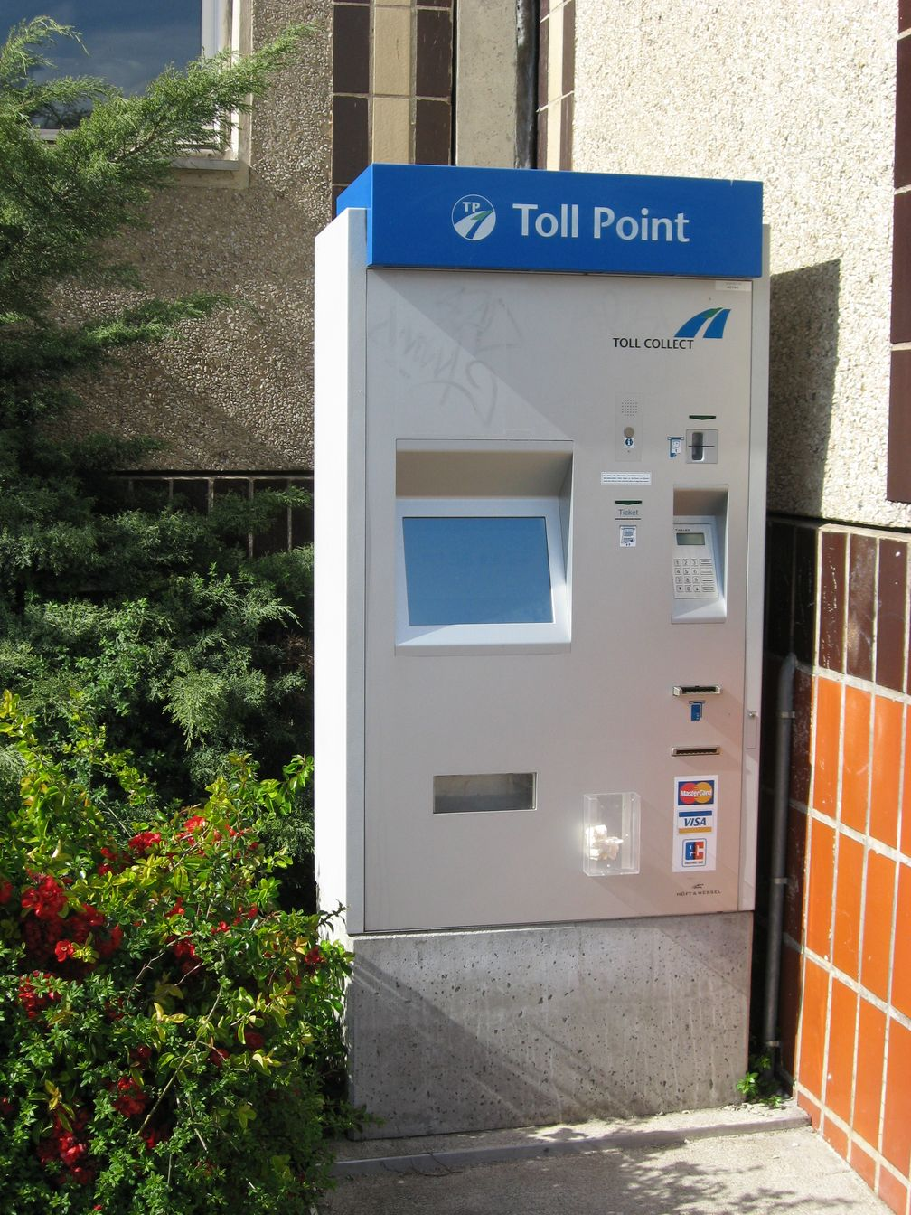 Autonomes Mautstellenterminal von Toll Collect