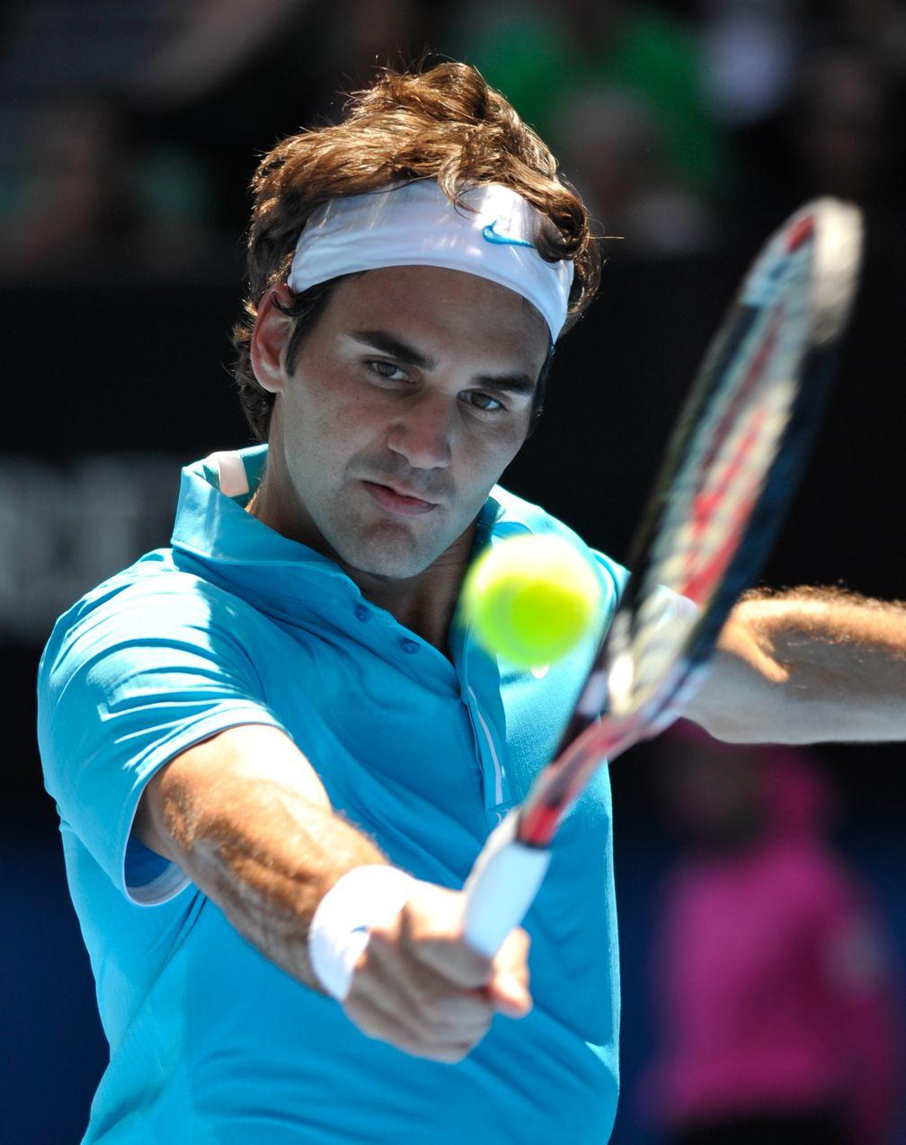 Roger Federer 2010 bei den Australian Open