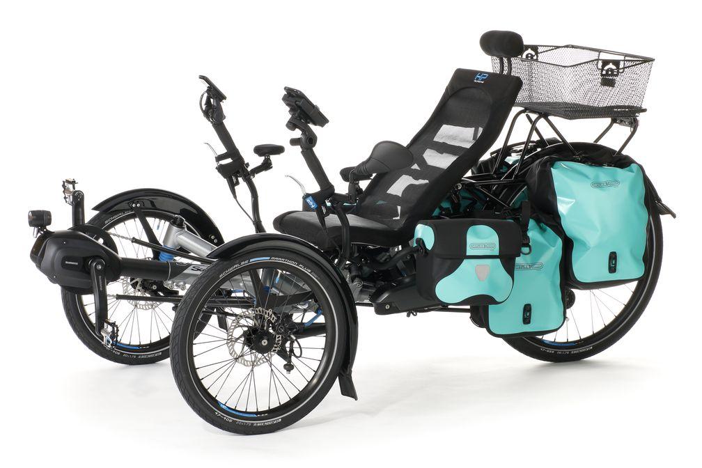 Ab 2020 haben Trike-Fahrer mit den neuen Transportlösungen (ab 34,90 Euro) von HP Velotechnik mehr Spielraum beim Gepäcktransport - Platz für einen Kaffeebecher inklusive.