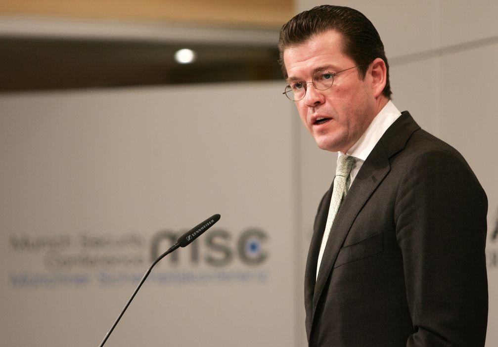 Karl-Theodor zu Guttenberg bei der Münchner Sicherheitskonferenz (Februar 2011)