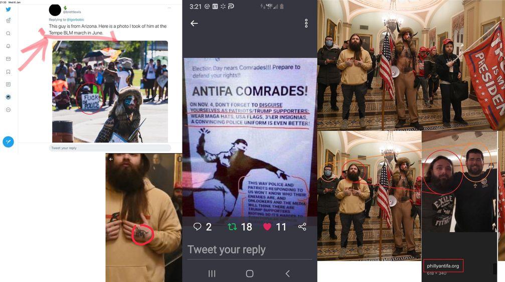 Antifaschisten und BLM Aktivisten stürmten das US-Kapitol?
