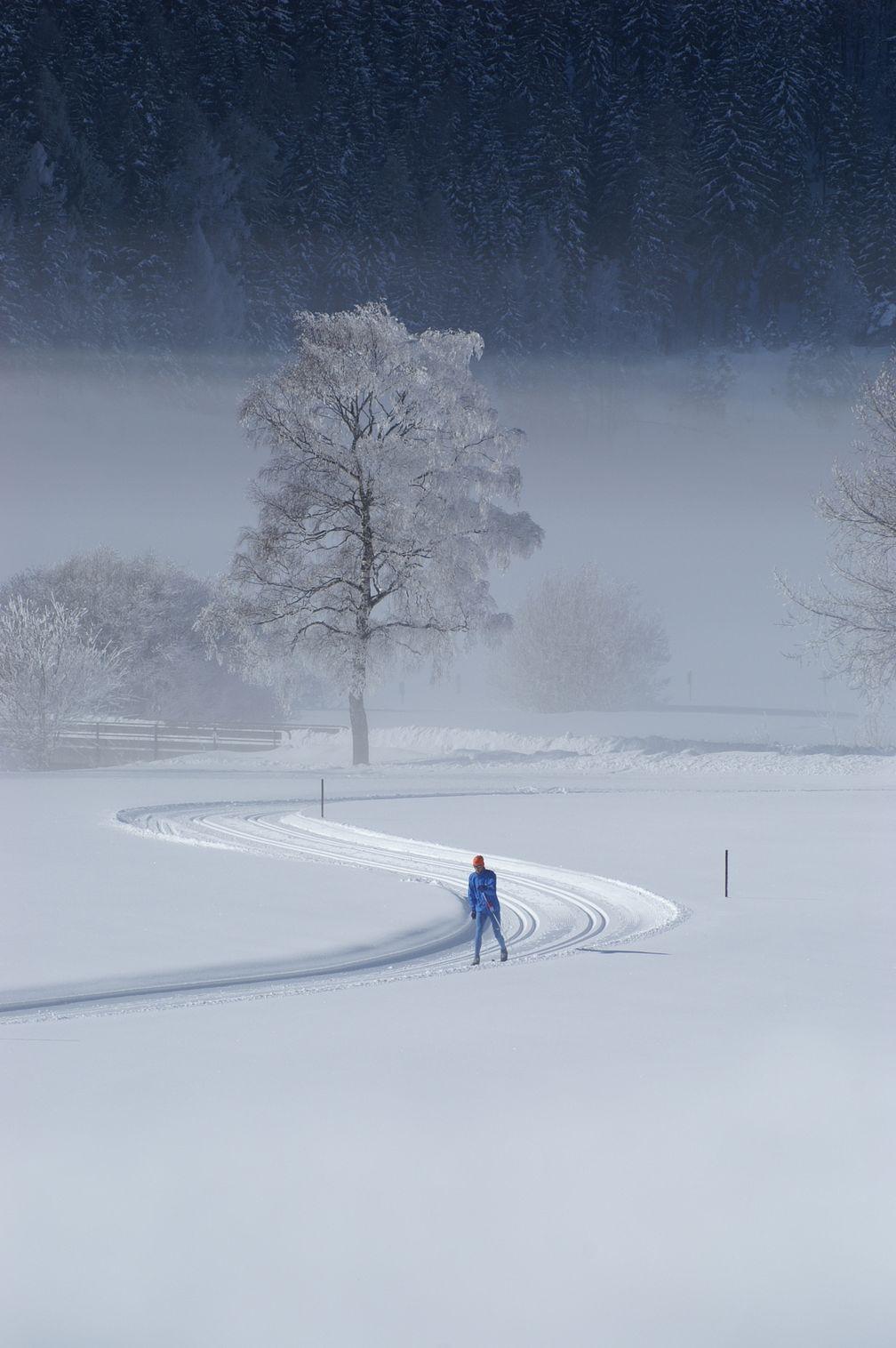 Skilanglauf zur Entspannung und Erholung (Symbolbild)
