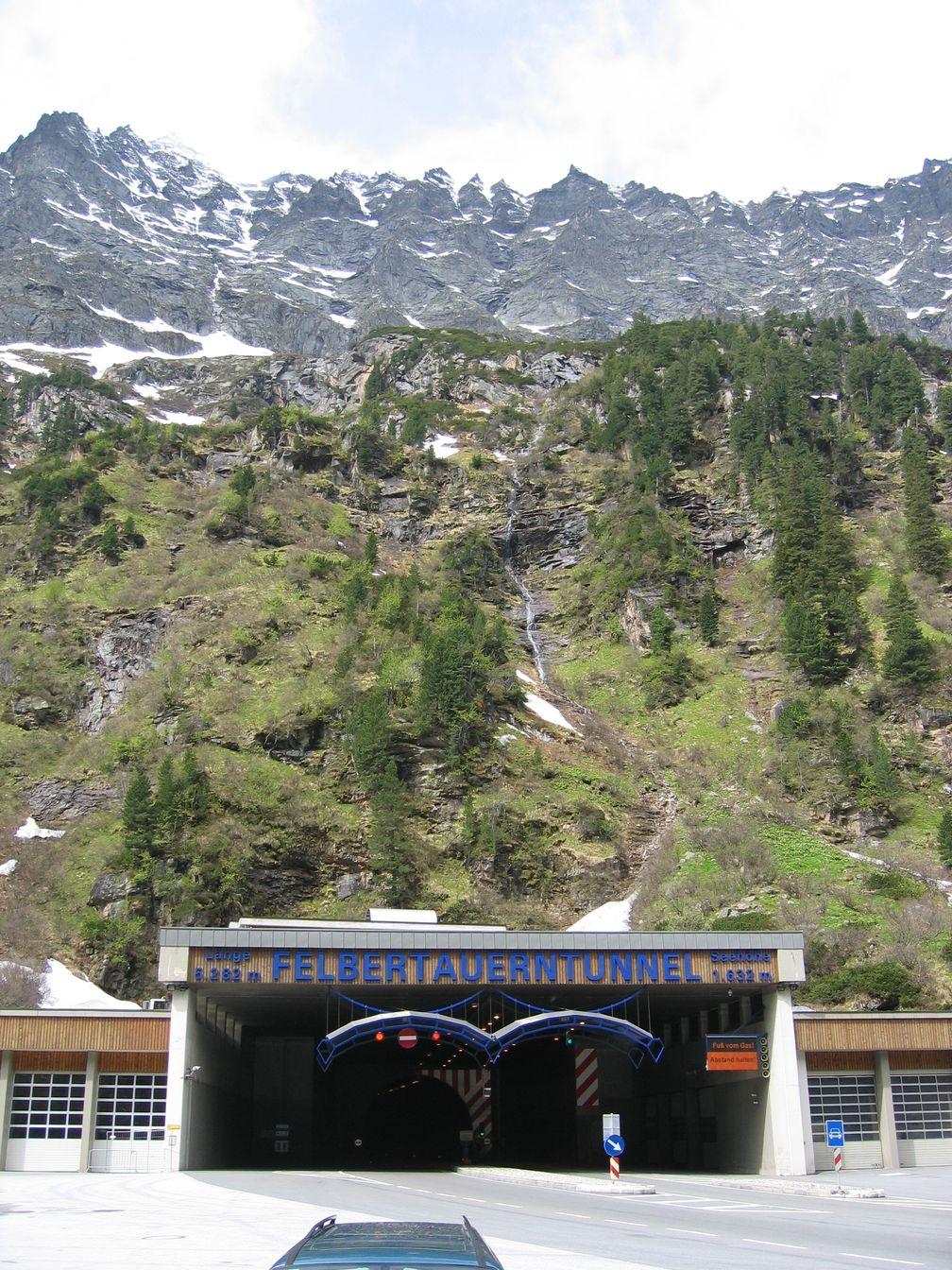 Die nördliche Einfahrt zum Felbertauerntunnel