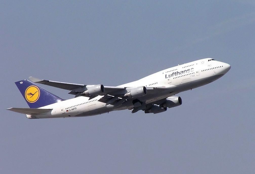 Eine Boeing 747-400 der Lufthansa