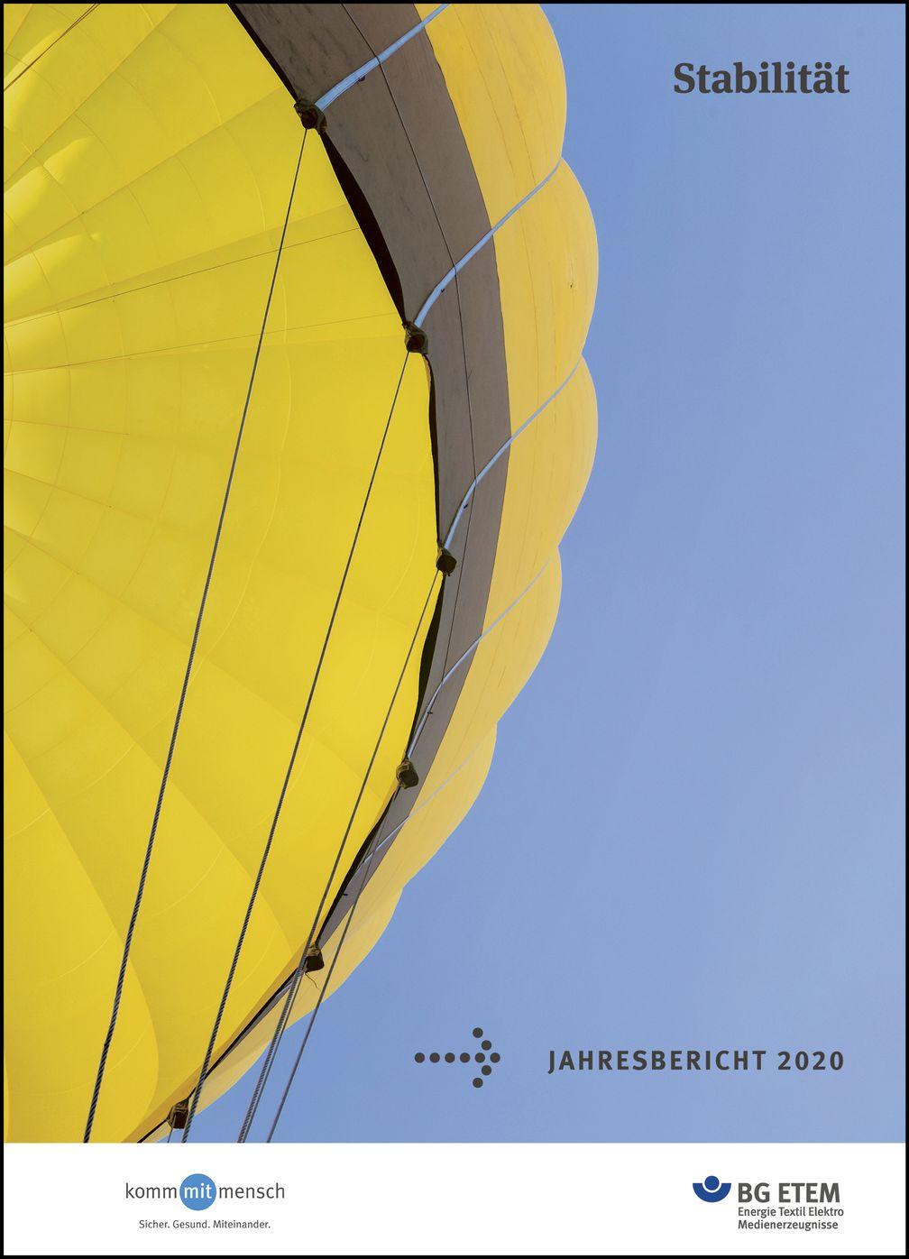 Titelseite des Jahresberichts 2020 der BG ETEM