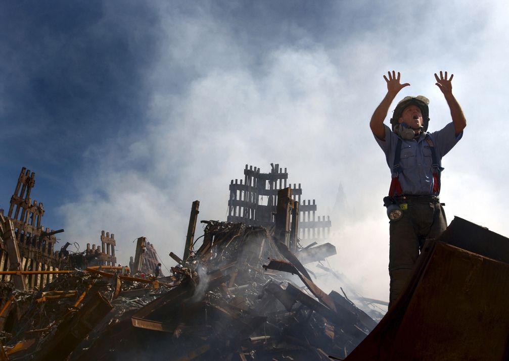 Reste des zerstörten World Trade Centers