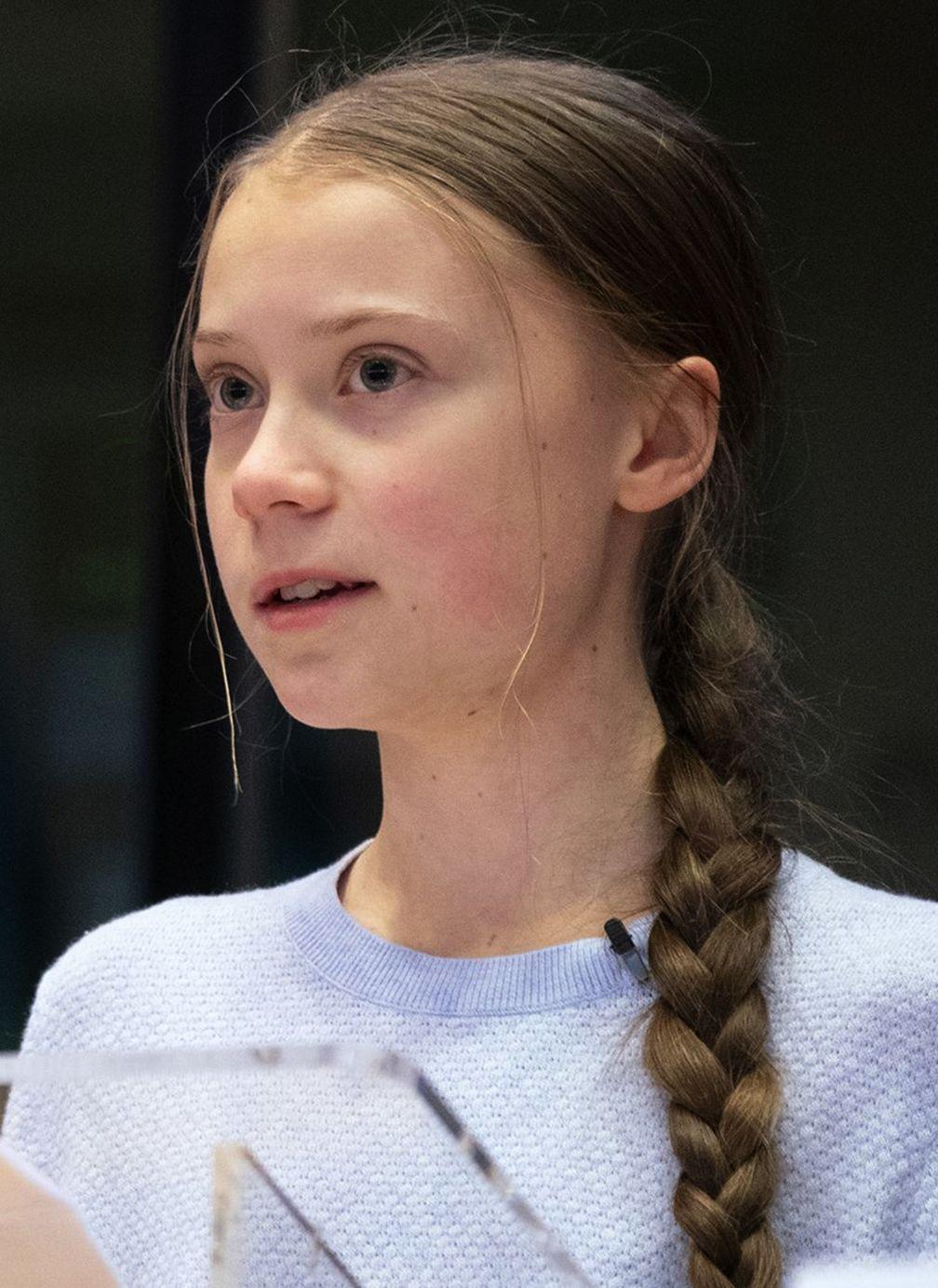 Greta Thunberg bei einer Sitzung des Umweltausschusses des Europäischen Parlaments in Brüssel (4. März 2020)