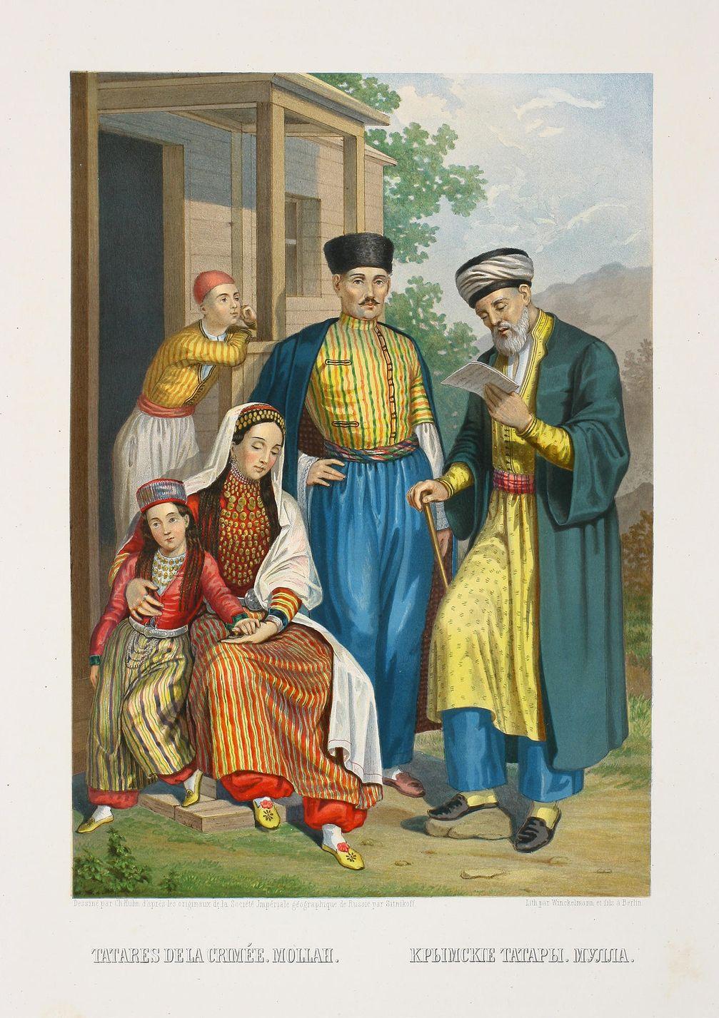 Krimtataren in traditioneller Tracht, 1880