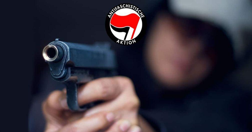 """Die Terror Gruppe Antifaschistischer Widerstand """"Antifa"""" verbreitet Terror in Deutschland (Symbolbild)"""