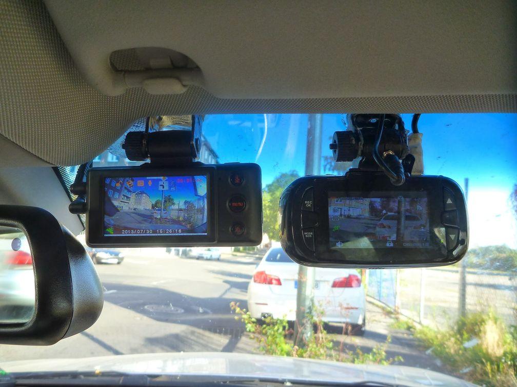 Dashcams mit unterschiedlicher Brennweite