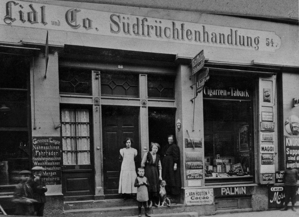 Lidl & Co. Südfrüchtenhandlung in der Sülmerstraße 54 in Heilbronn (um1905)