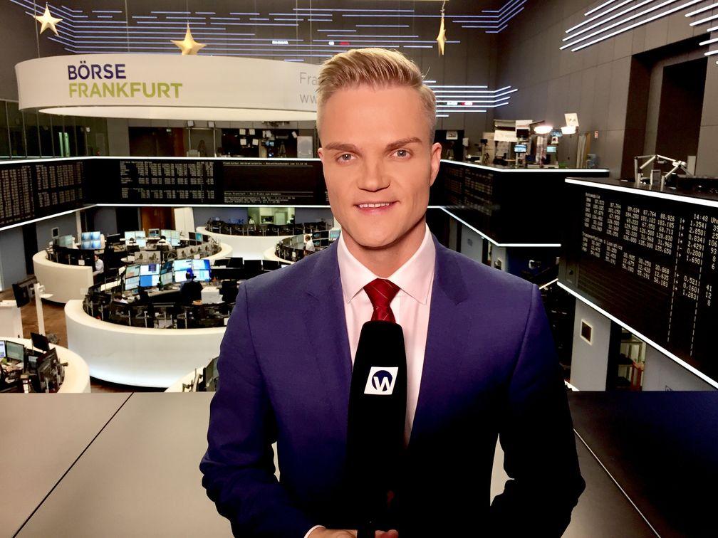 Manuel Koch an der Frankfurter Börse im Dezember 2016 (DAX), Symbolbild