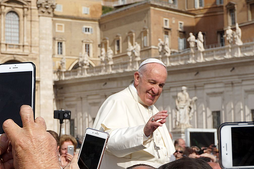 Papst Franziskus (2018), bürgerlicher Name Jorge Mario Bergoglio SJ