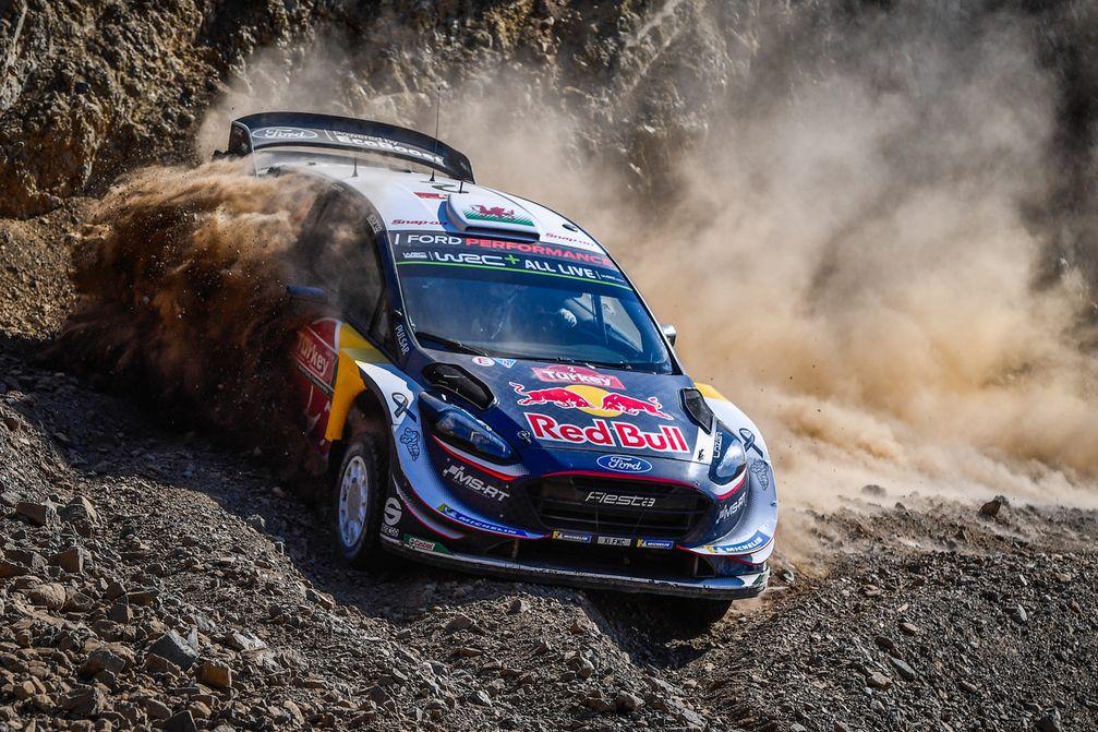 """Elfyn Evans und Beifahrer Daniel Barritt bewiesen beim Rückkehr der Türkei in den Rallye-WM-Kalender Teamgeist. Bild: """"obs/Ford-Werke GmbH"""""""