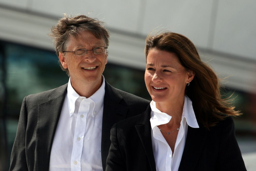 Bill Gates mit Ehefrau Melinda 2009