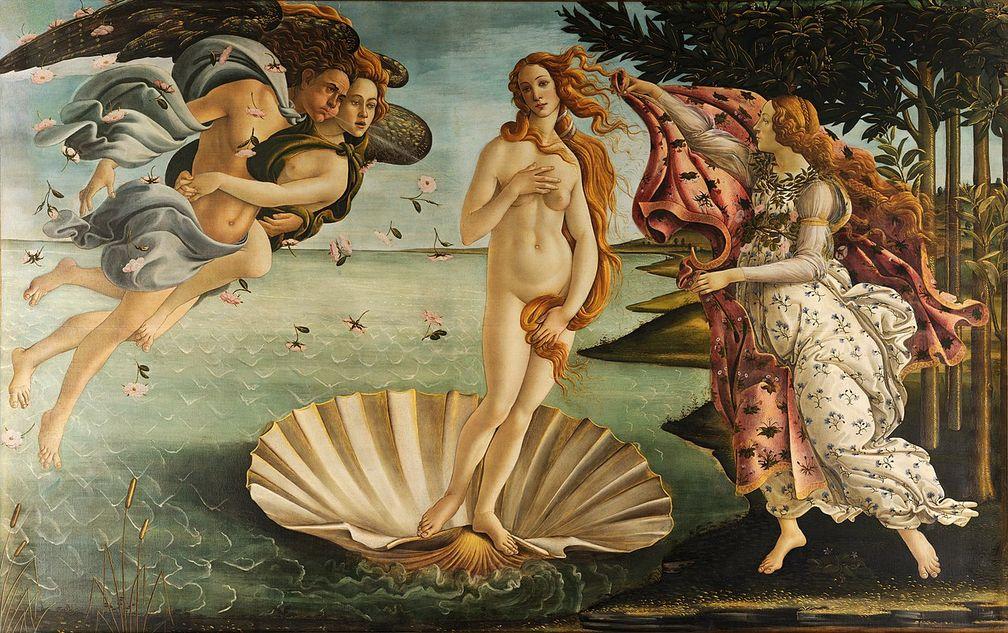 Die Geburt der Venus Sandro Botticelli, ca. 1485/86