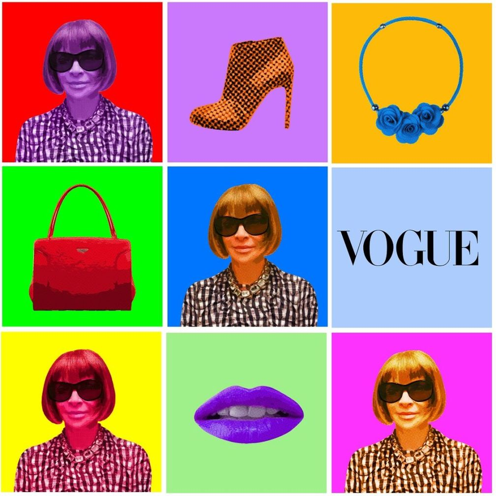 Anna Wintour Pop Art par Gil Zetbase (2016)