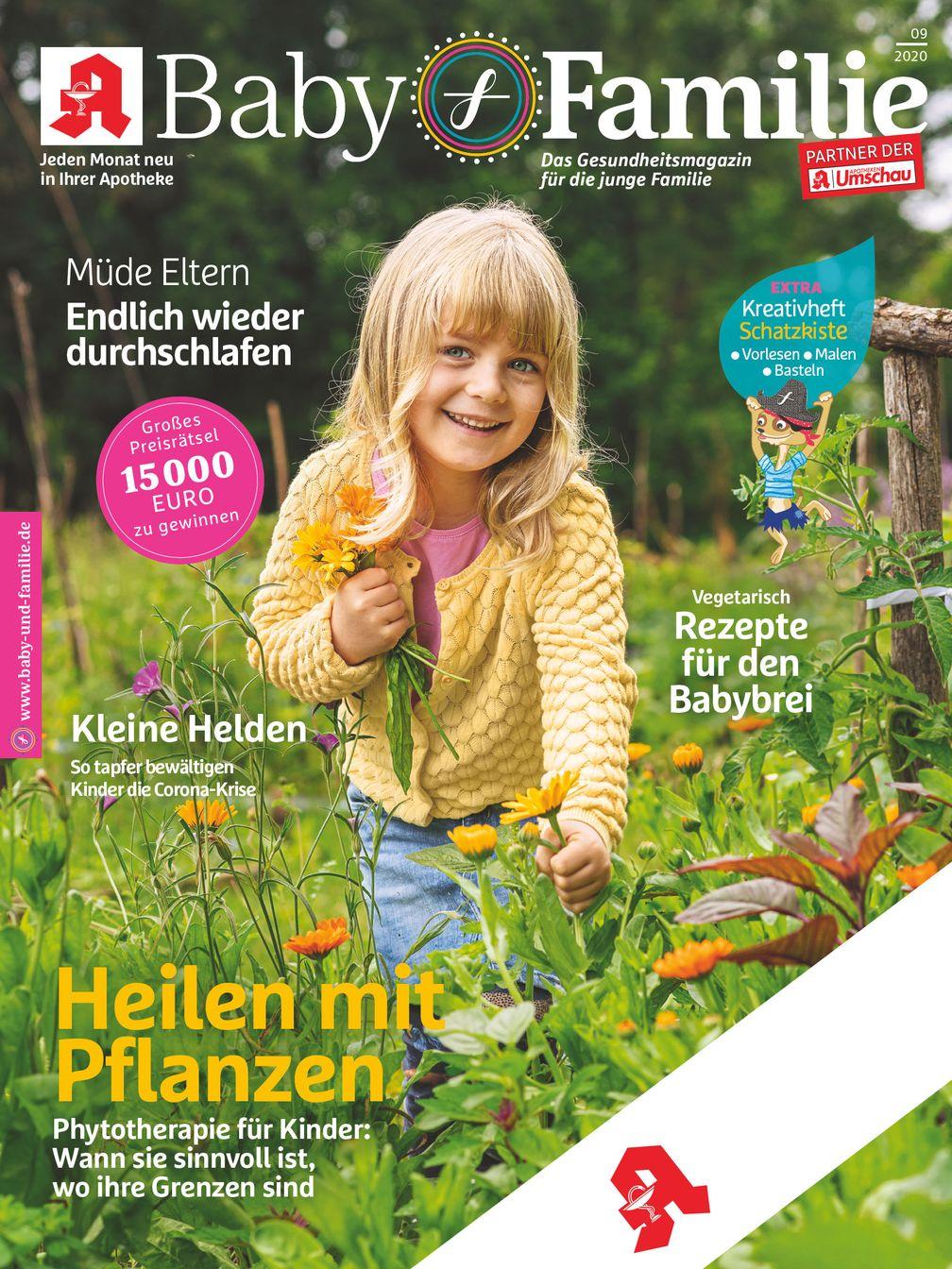"""Titelcover Baby und Familie, Ausgabe 9/2020.  Bild: """"obs/Wort & Bild Verlag - Gesundheitsmeldungen"""""""