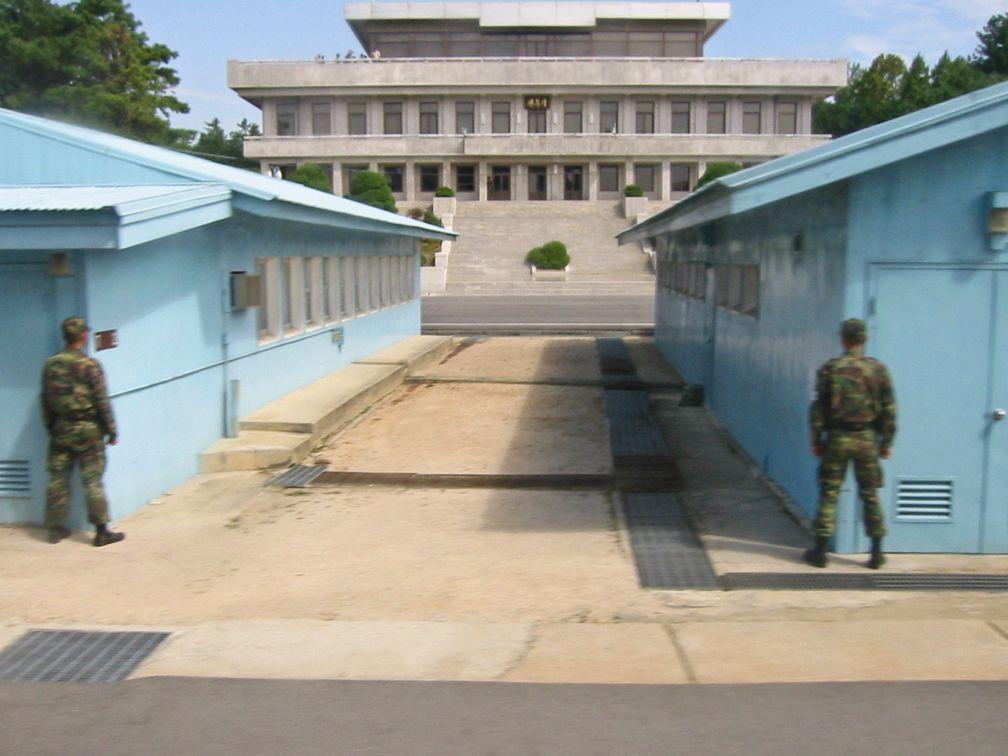 Grenze Nordkorea-Südkorea bei Panmunjeom